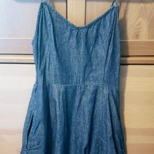 Denim Summer Dress with pockets